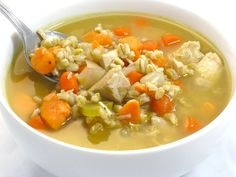 Yummy Chicken Barley Soup with Weight Watchers Points | Skinny Kitchen