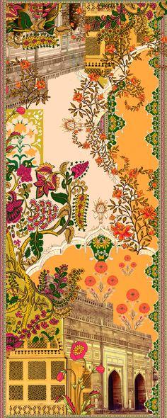 Mughal Miniature Paintings, Mughal Paintings, Indian Art Paintings, Arte Judaica, Indian Illustration, Indian Aesthetic, Indian Folk Art, India Art, Indian Prints