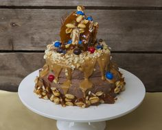 snickers cake. — vermilion red Snickers Cake, Vermilion Red, Desserts, Food, Tailgate Desserts, Deserts, Essen, Postres, Meals