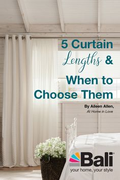 How To Choose Living Room Curtains, Dining Room Curtains, Long Curtains, Hanging Curtains, Bali Blinds, Curtain Length, Shades Blinds, House Windows, Wall Treatments