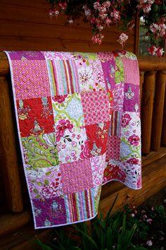 Love these prints  Romantic Tea Garden Quilt