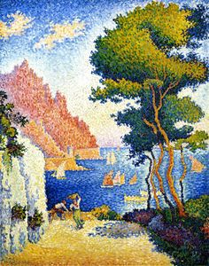 Neo-Impressionist painting - Paul Signac (French: 1863 – was a French neo-impressionist painter who, working with Georges Seurat, helped develop the pointillist style. Paul Signac, Paul Cezanne, Art Français, Georges Seurat, Kunst Poster, Guache, Impressionist Art, Claude Monet, French Art