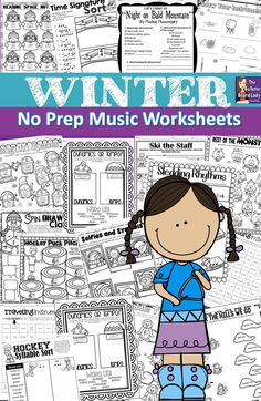Cozy up to these no pre music worksheets! This set is great to use for homework, large group work, centers or workstations, sub plans and assessment. Piano and voice teachers may find this packet useful for theory work in addition to their regular lessons Kindergarten Music, Preschool Music, Elementary Music, Upper Elementary, 2nd Grade Music, Music Classroom, Classroom Ideas, Music Education Activities, Music Lessons