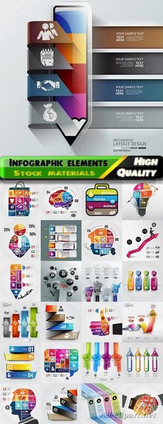 Infographic design elements in vector set from stock #110 - 25 Eps