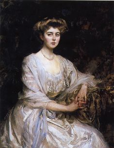 """There is No Abstract Art ... Princess Margaret """"Daisy"""" of Connaught, later Queen consort to Gustav Adolf VI of Sweden Sir James Jebusa Shannon - 1907"""