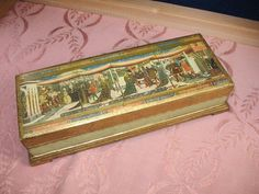 60'S MID CENTURY HOLLYWOOD REGENCY FLORENTINE ITALY KEEPSAKES BOX ~ 5B16 #HollywoodRegency