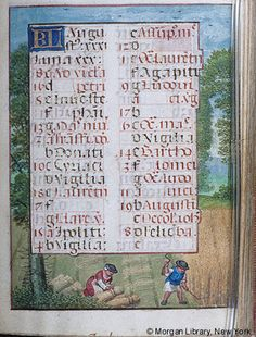 August - Book of Hours - Belgium, Bruges, 1531 - MS M.451 fol. 5r