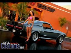 The car and the girl! Shelby Cobra mustang