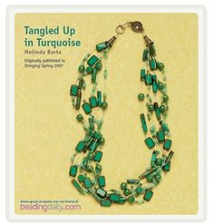 Tangled Up In Turquoise Free Beading Project by Melinda Barta - Media - Beading Daily