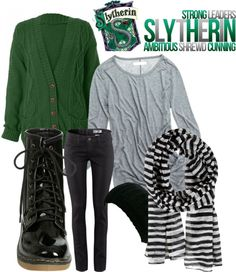 """""""Cozy Slytherin"""" by iwishedfordragons on Polyvore"""