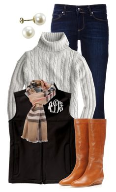 """""""Today's Outfit - 11/25/13"""" by qtpiekelso ❤ liked on Polyvore featuring Paige Denim, J.Crew, Loeffler Randall and Burberry"""