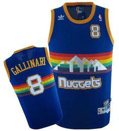 da1bf9065 Adidas NBA Denver Nuggets 8 Danilo Gallinari Swingman Throwback Blue Jersey