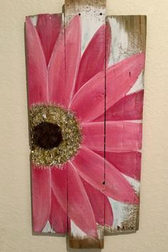 Paint Old Wood Fence Unique Daisy Painting On Old Wood Fencing Coffee Table Design, Painting On Pallet Wood, Wood Pallet Art, Fence Painting, Pallet Signs, Painted Boards, Painted Wood, Painted Pallets, Daisy Painting