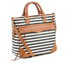 Rebecca Minkoff Striped Tote by mae