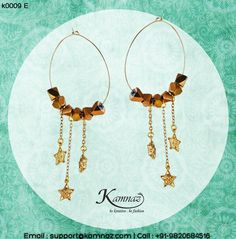#KamnazJewellery Chic trendy dangling #earrings #hoops from #Kamnaz for prices contact support@kamnaz.com | +91-9820684516 #earrings #dangles #ecommerce #chic #handmadejewellery #indochicjewellery #designerjewellery #fashionjewellery #jewelry #mumbai #fashion #exclusive #casual #lightweight #dangling #accessory #women #instafashion #instalook #handmade