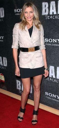Shoes - Lanvin Belt - Alexander McQueen Dress - Roland Mouret Jacket - Elizabeth and James Bracelet - Gemma Redux