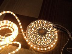 Rope Lights Walmart Crocheted Rope Light Rug Saw One And Had To Try Itused Rope That