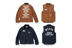 WTAPS x Carhartt WIP 2015 Fall/Winter Collection: Collaborative workwear classics. Carhartt T Shirt, Carhartt Wip, Carhartt Store, Work Jackets, Jackets For Women, Workwear Fashion, Mens Fashion, Carhartt Work In Progress, Christmas Clothes
