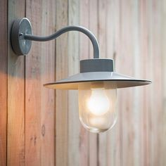 A lovely arched necked exterior wall light painted in a soft light grey. The neck tilts the light ever so slightly making it ideal for above a porch or entrance way. Replacement glass can also be purchased if needed. Garage Lighting, Porch Lighting, Barn Lighting, Interior Lighting, Kitchen Lighting, Bathroom Lighting, Outdoor Pathway Lighting, Outdoor Walls, Outside Light Fixtures