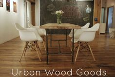 Reclaimed Wood dining Table with industrial by UrbanWoodGoods, $1195.00