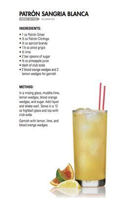 SANGRIA BLANCA | Patrón Tequila