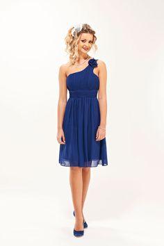 Short royal blue bridesmaids dresses | Rose Short Royal Blue Colour Bridesmaid Dress - Era Boutique