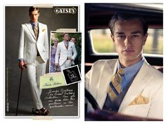 The Great Gatsby Collection Ivory Linen Suit, Brooks Brothers : Ens. 1465 €