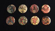 Vintage Avengers Repurposed Comic Button Set by EpicButtons, $10.00