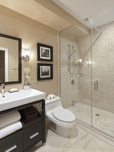 Bathroom Remodel Ideas Gallery stylish 3/4 bathroom. #bathrooms #bathroomdesigns homechanneltv