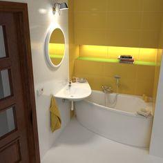 A fürdőszoba kapcsán nem csupán a garzonok esetében szembesülhetünk a helyiség apró méretével, de különösen igaz ez ebben az esetben. 💦🛁 Szerencsére rengeteg megoldás kínálkozik erre a problémára, és egy kis kreativitással különlegessé varázsolhatjuk a fürdőhelyiséget. A RAVAK fürdőszoba is gondoskodik azokról, akiknek kis fürdőszobát kell berendezniük, több kifejezetten apró térbe tervezet koncepcióval is rendelkeznek, melyek közül egyik legnépszerűbb az Avocado. Small Bathroom Window, Small Bathtub, Bathroom Windows, Corner Bathtub, Bathtub Decor, Bathtub Shower, Disabled Bathroom, Mini Bad, Natural Bathroom