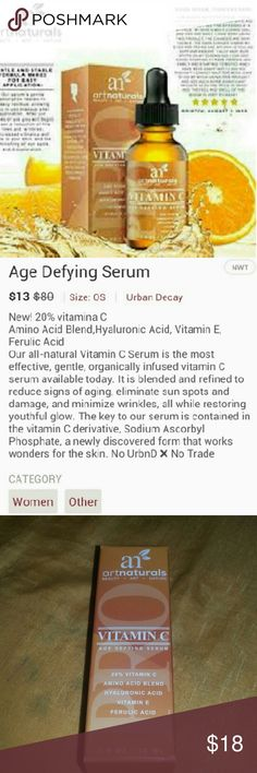 Age Defying Serum New! This serum is specially formulated to protect the skin from showing damage due to sun exposure and free radicals. This serum will fade sun spots, refine skin texture and reduce wrinkle formation. No Trades Other