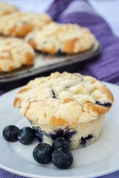 Heidelbeer-Muffins mit Streuseln
