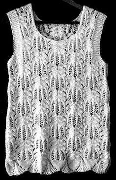 Ravelry: Frost Flowers Top pattern by Lankakomero Summer Knitting, Lace Knitting, Knitting Stitches, Knitting Patterns Free, Knit Patterns, Knitting Tutorials, Knitting Machine, Stitch Patterns, Gilet Crochet