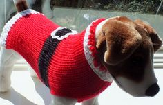 Diese schöne Hand Santa Dog Pullover stricken ist perfekt für den Urlaub. Das schöne rote Garn ist kuschelig warm und für alle Jahreszeiten geeignet. Ihr Haustier (und sich selbst) zu einem wirklich einzigartig, eine Art zu behandeln, Hand stricken Geschenk dieser Saison! Größe: klein Brustumfang: 14 - 116 Vorderen Brust Panel: 8 lang Länge: 14 nicht einschließlich den Kragen Maschine waschen und trocken kalt zarte Zyklus oder lagen flach, trocken * Bitte benutzen Sie meine Messung-A...
