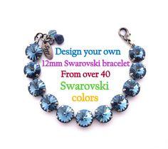 Design your own Swarovski crystal bracelet 12mm by SiggyJewelry