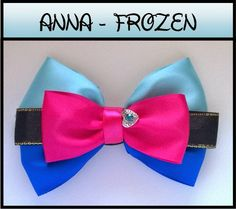 Anna hair bow - inspired Disney's Frozen. Shop our hand-made, quality, Disney inspired hair bows, and meticulously selected Disney Princess inspired jewelry here: ebay.com.au/sch/theartofogygia International shipping available! Free shipping in Australia! For decoupage, fine art and DIY furniture upcycling subscribe to our blog by clicking the website link below!