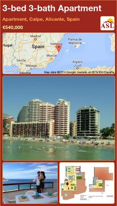 3-bed 3-bath Apartment in Apartment, Calpe, Alicante, Spain ►€540,000 #PropertyForSaleInSpain