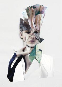 Fashion Sketchbook inspiration; fashion collage; mixed media fashion illustration; fashion portfolio // Ernesto Artillo
