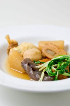 Oden is a Japanese stew made with fishcakes, konnyaku, eggs, and daikon simmered in dashi. Recipe to make this warming soup.