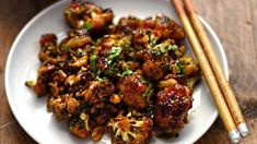98 save your brunch money here exactly how to make an omelet like a pro 34 Kung Pao Cauliflower, Cauliflower Recipes, Meals Without Meat, Asian Recipes, Ethnic Recipes, Chinese Recipes, Vegan Dishes, Chinese Food, Diet