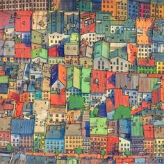 """""""And it's filled with intricate urban worlds."""" Steve McDonald's Fantastic Cities coloring book."""