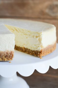 Cheesecake tips!  No crack, no soggy bottom, not too creamy, not too crumbly!   Lemon Sugar | No-Crack Cheesecake | http://lemon-sugar.com