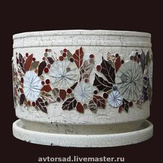 flower pot.mosaic