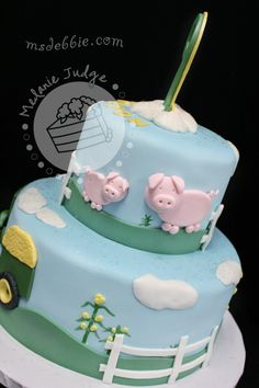 Image detail for -farm animal boy birthday cake