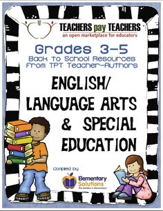 This 76-page collaborative e-book from fabulous TPT Grades 3-5 English Language Arts and Special Education sellers is chock full of helpful Back to School tips, freebies, and other products that are sure to help you start the 2014-2015 school year right!  #backtoschool