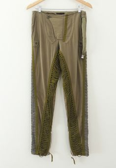 Helmut Lang 2003 khaki cotton aviator pants army air force | eBay