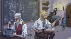 Art by @Anodesu #CriticalRole | Percy and Tarry in the workshop