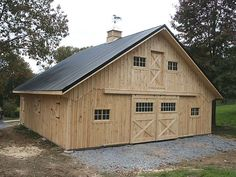 "barns | This 36'x36' Horse Barn was built with larger overhangs (24"" wide ..."