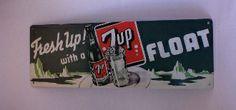 7 Up Sign. Fresh up with 7 Up Float Metal Sign. - Junk Drunk Jones
