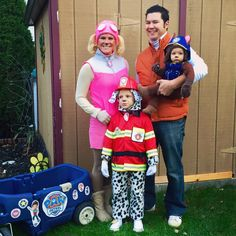 Paw Patrol Family Halloween Costumes. Ryder, Skye, Marshal, Chase.